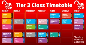 tier 3 timetable